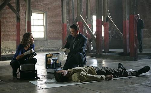 Melina Kanakaredes e Gary Sinise nell'episodio LAT 40° 47' N/Long 73° 58'W della serie CSI New York