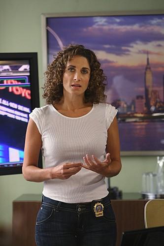 Melina Kanakaredes in una scena dell'episodio Epilogue di CSI New York