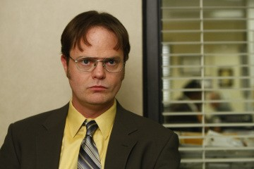Rainn Wilson in una scena dell'episodio The Meeting della serie The Office