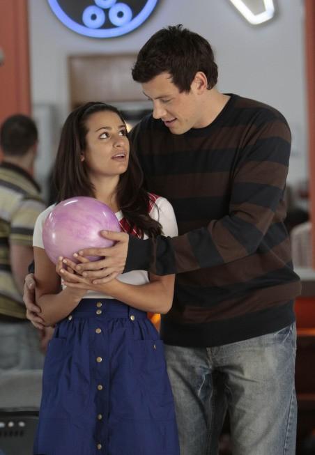 Cory Monteith e Lea Michele nell'episodio The Rhodes Not Taken della serie Glee