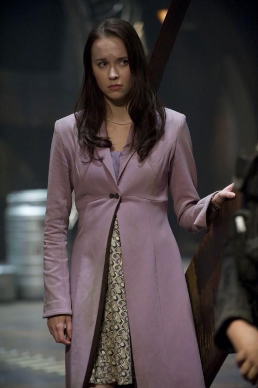 Elyse Levesque in un momento della premiere di Stargate Universe