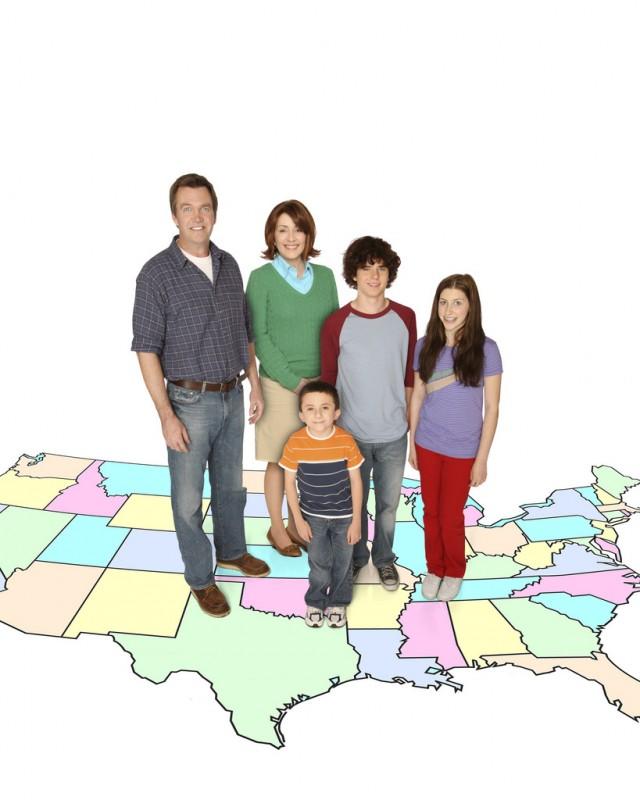 Il cast di The Middle in una foto promozionale della serie
