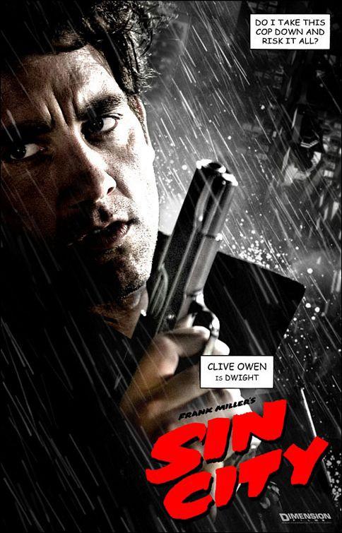 Il character poster di Dwight nel film Sin City