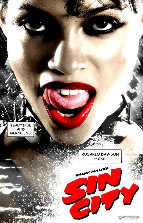 Il character poster di Gail nel film Sin City