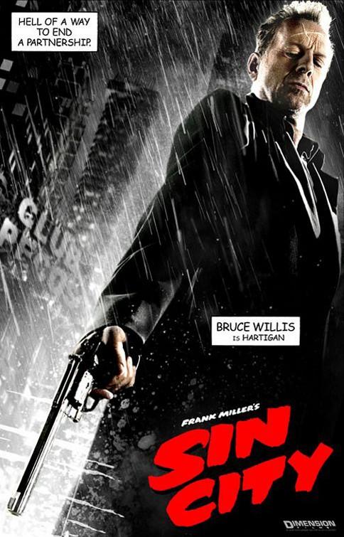 Il character poster di Hartigan nel film Sin City