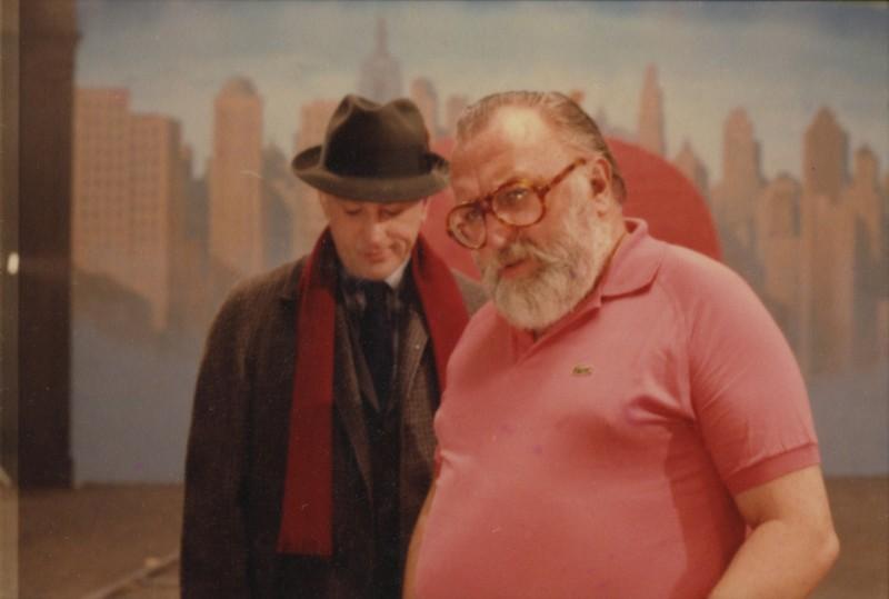 Sergio Leone e Robert De Niro sul set di C'era una volta in America ©Angelo Novi /Cineteca di Bologna