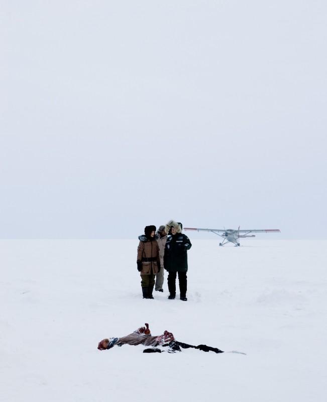 Una suggestiva immagine del thriller Whiteout - Incubo bianco
