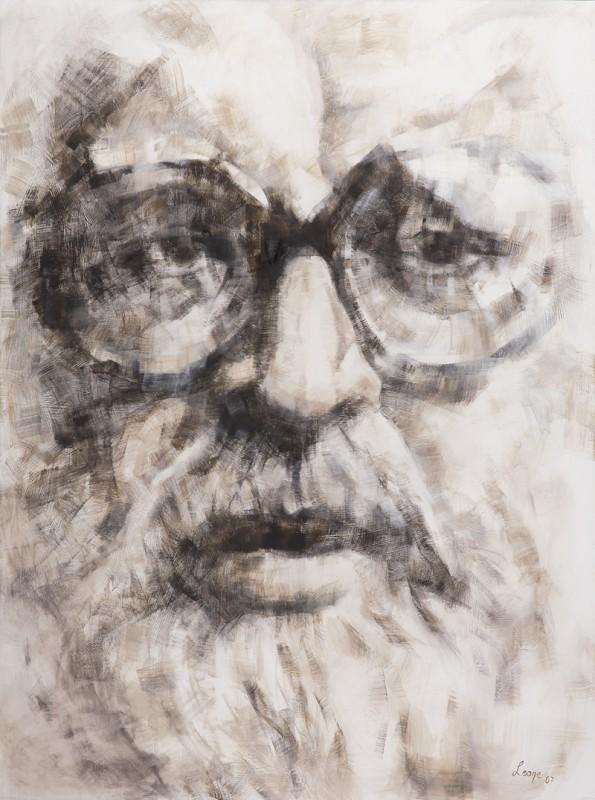 Uno splendido ritratto di Sergio Leone realizzato da sua figlia, l'artista Francesca Leone.