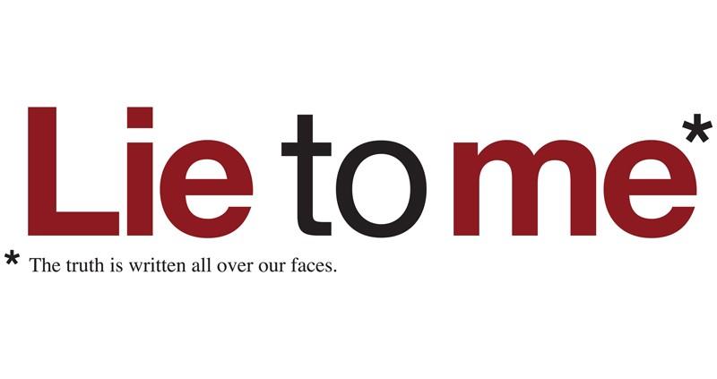 Il logo della serie tv Lie to Me - la verità è scritta sui nostri volti