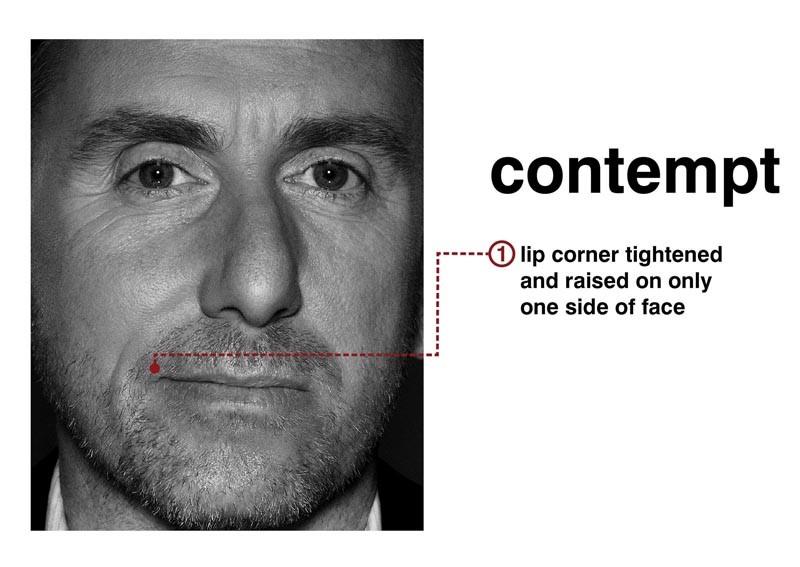 Tim Roth mostra il sentimento del 'disprezzo' con l'espressione del viso per la serie Lie to Me