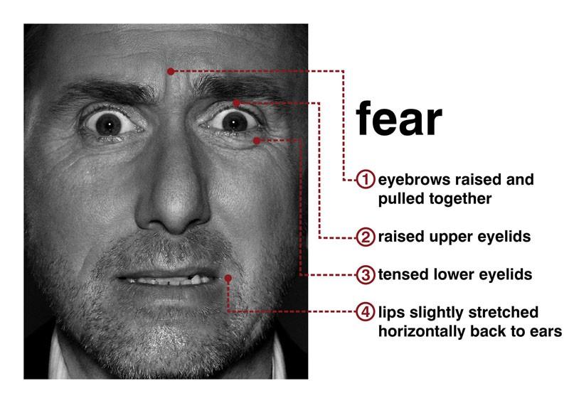 Tim Roth mostra il sentimento della 'paura' con l'espressione del viso per la serie Lie to Me