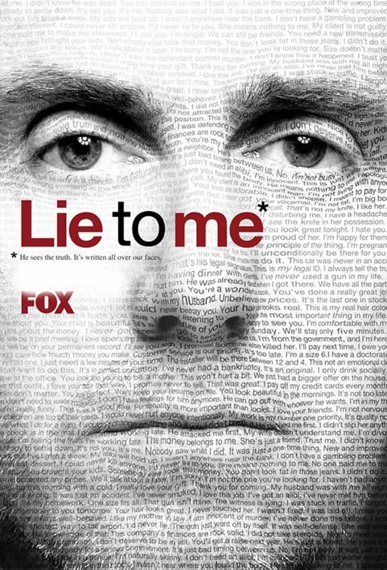 Un poster per la serie TV 'Lie to Me'