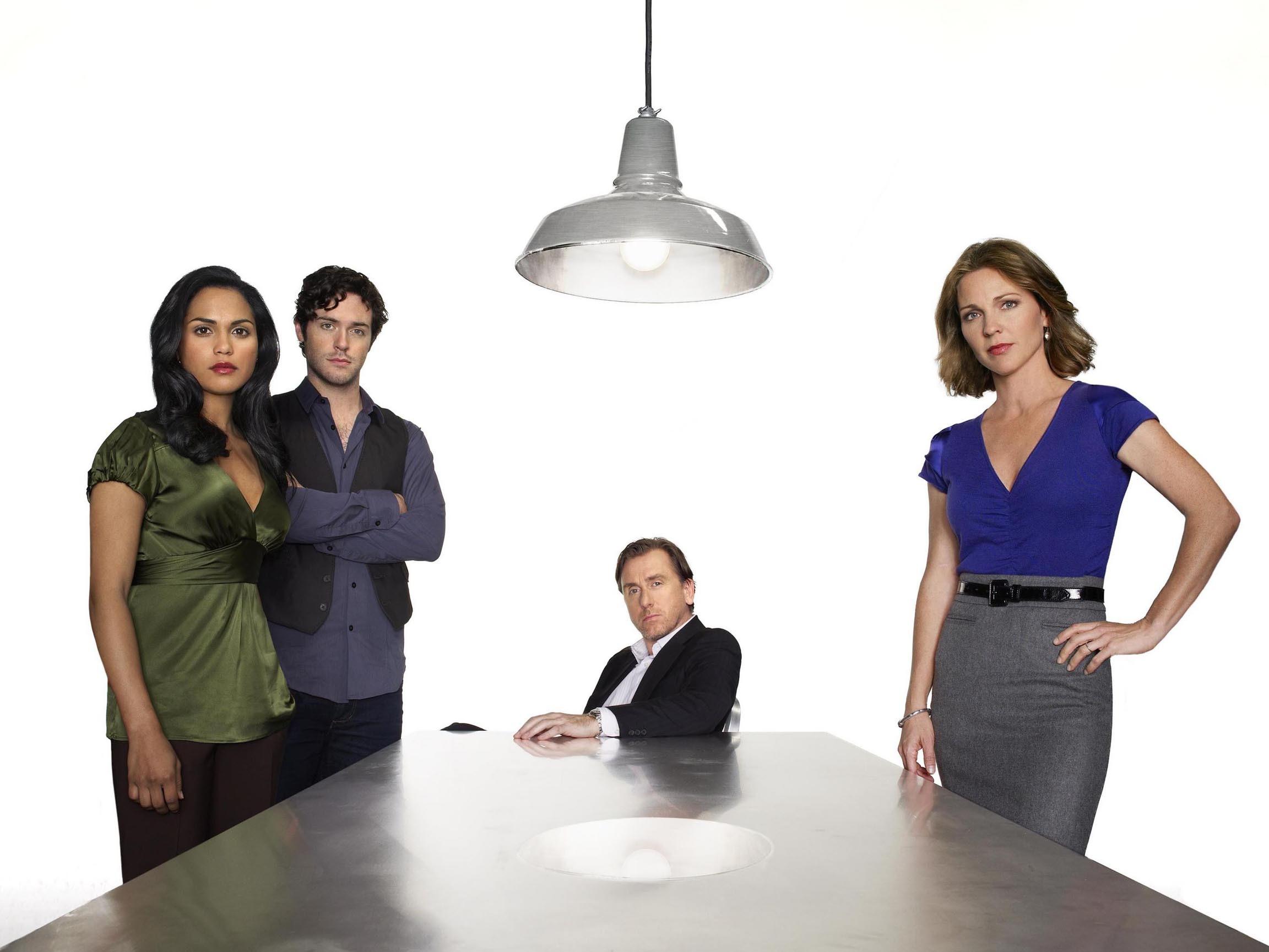 Wallpaper: il cast principale di Lie to Me per una foto promozionale