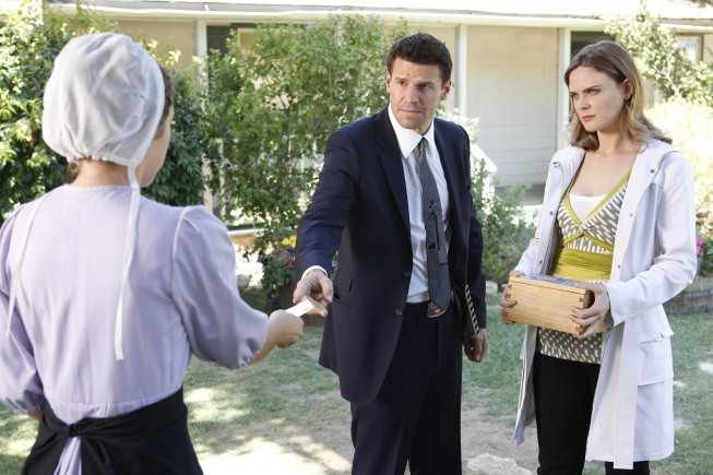 David Boreanaz ed Emily Deschanel nell'episodio The Plain in the Prodigydella serie Bones