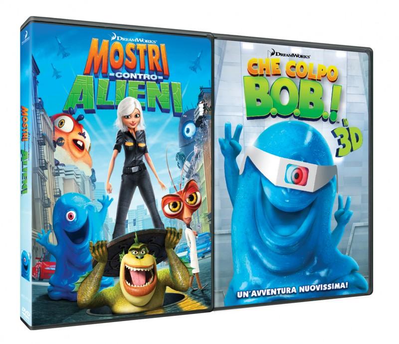 La copertina di Mostri contro Alieni + Che Colpo B.O.B.! in 3D (dvd)