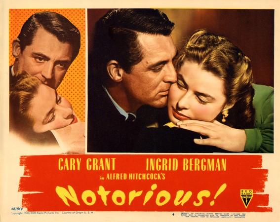 Lobbycard promozionale del film Notorious - L\'amante perduta con i due protagonisti