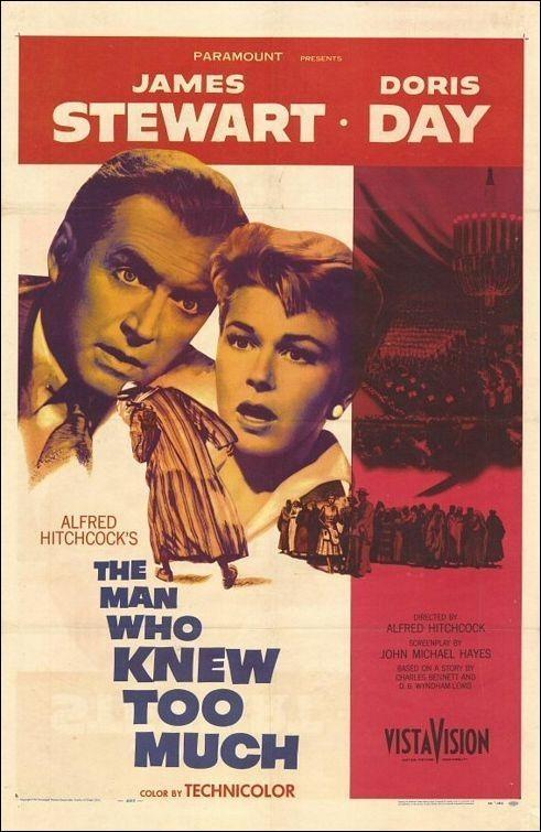 Una bella locandina del film L'uomo che sapeva troppo ( 1956 )