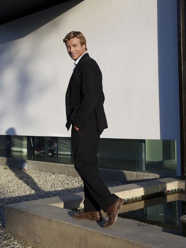 Una foto promo dell'attore Simon Baker (Patrick Jane) di The Mentalist