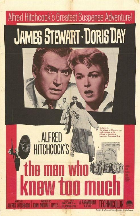 Una locandina del thriller L\'uomo che sapeva troppo ( 1956 )