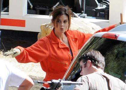 Desperate Housewives, stagione 6: Teri Hatcher scherza sul set della serie televisiva