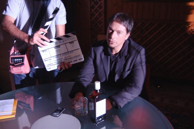 Giuseppe Milazzo Andreani sul set del film The Fall of Redemption