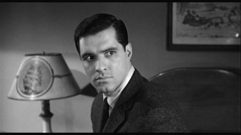 John Gavin in una scena del film Psycho ( 1960 )