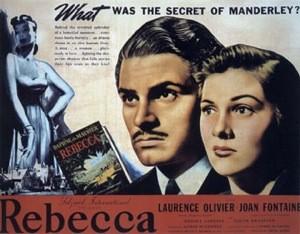 lobbycard promozionale del film Rebecca, la prima moglie ( 1940 ) di A. Hitchcock