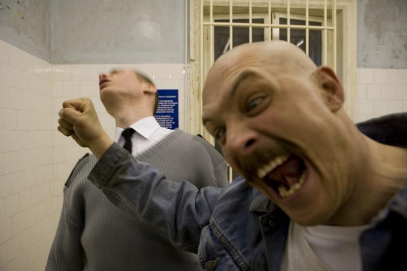 Tom Hardy in un'immagine del film Bronson