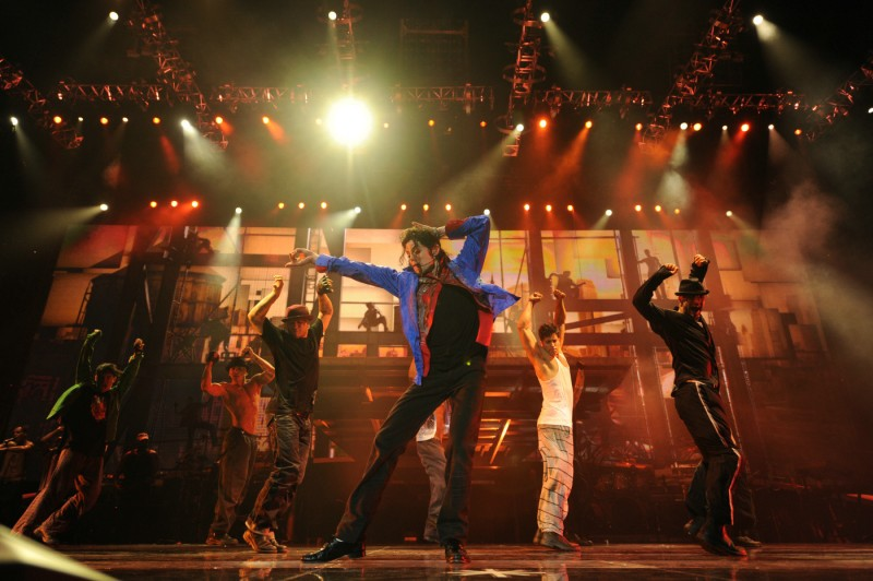 Michael Jackson in un'immagine del film Michael Jackson's This is it