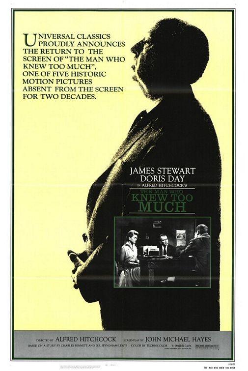 Locandina del 1984, in occasione per il ritorno al cinema del film L\'uomo che sapeva troppo
