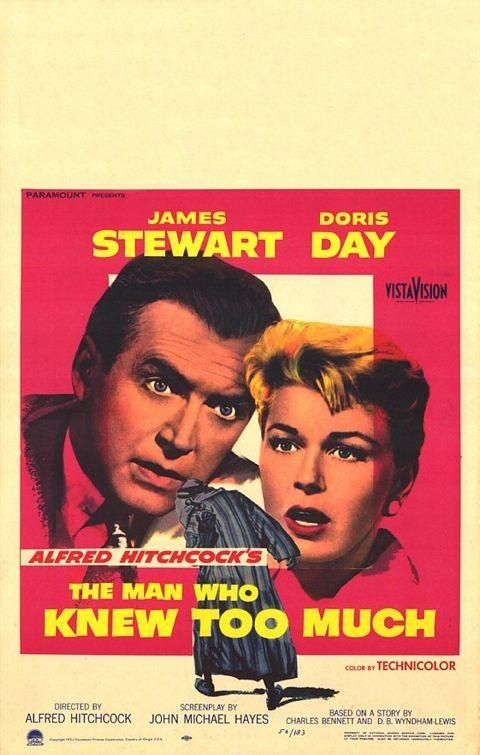 Locandina del film L\'uomo che sapeva troppo ( 1956 ) di A. Hitchcock