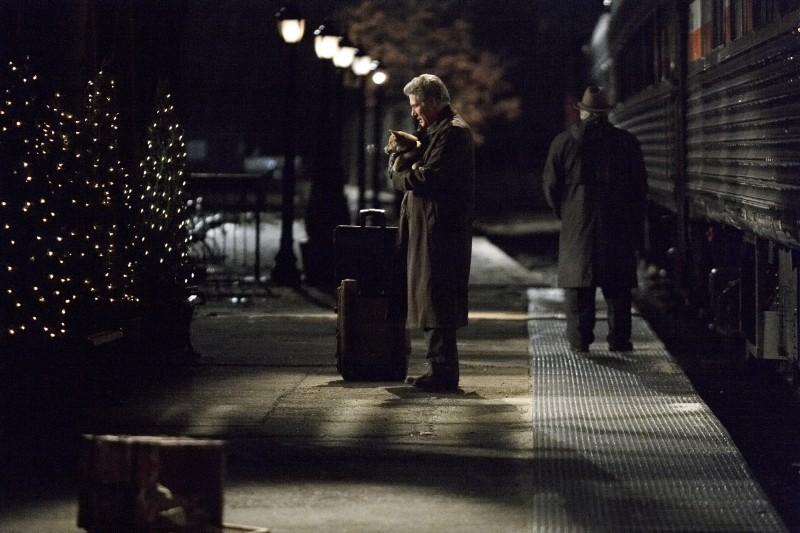 Richard Gere in una scena del film Hachiko