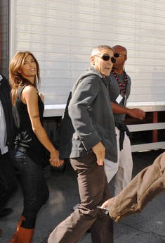 Sulmona: George Clooney ed Elisabetta Canalis sul set di A Very Private Gentleman