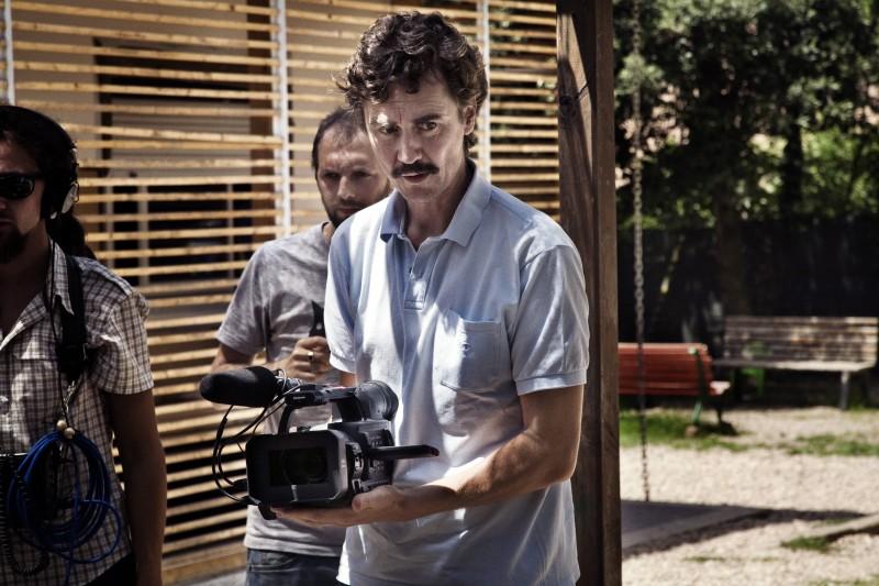 Un'immagine scattata sul set del film Sotto il Celio Azzurro (2009)