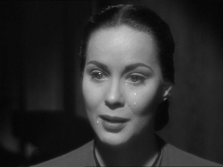 Alida Valli in una scena del film Il caso Paradine ( 1947 )