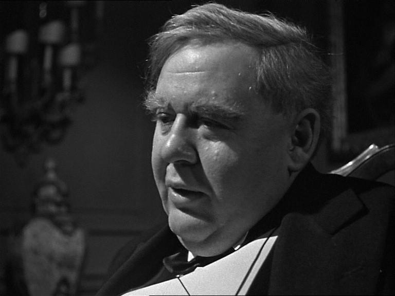 Charles Laughton in una scena del film Il caso Paradine ( 1947 )
