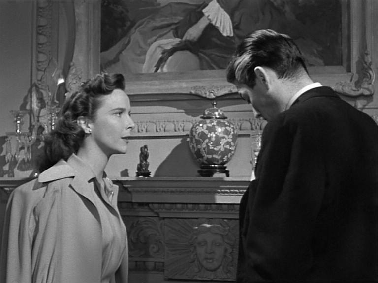 Gregory Peck e Alida Valli in una scena del film Il caso Paradine ( 1947 )
