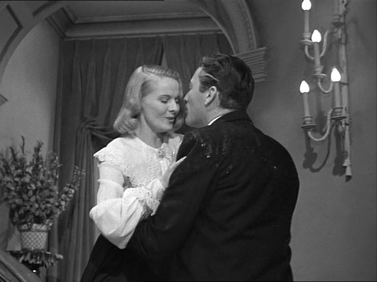 Gregory Peck e Ann Todd in una scena del film Il caso Paradine ( 1947 )