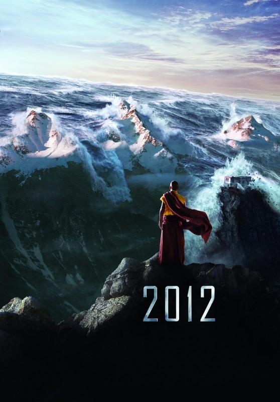 Immagine promo con il monaco tibetano per il disaster movie 2012