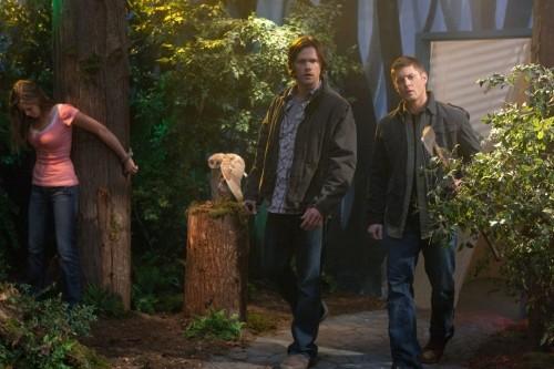 Jared Padalecki e Jensen Ackles nell'episodio 'Fallen Angel' di Supernatural
