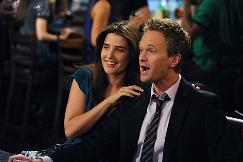 Neil Patrick Harris e Cobie Smulders nell'episodio Robin 101 di How I Met Your Mother