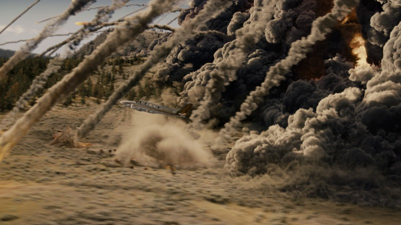 Una spettacolare esplosione in una scena di 2012, di Roland Emmerich