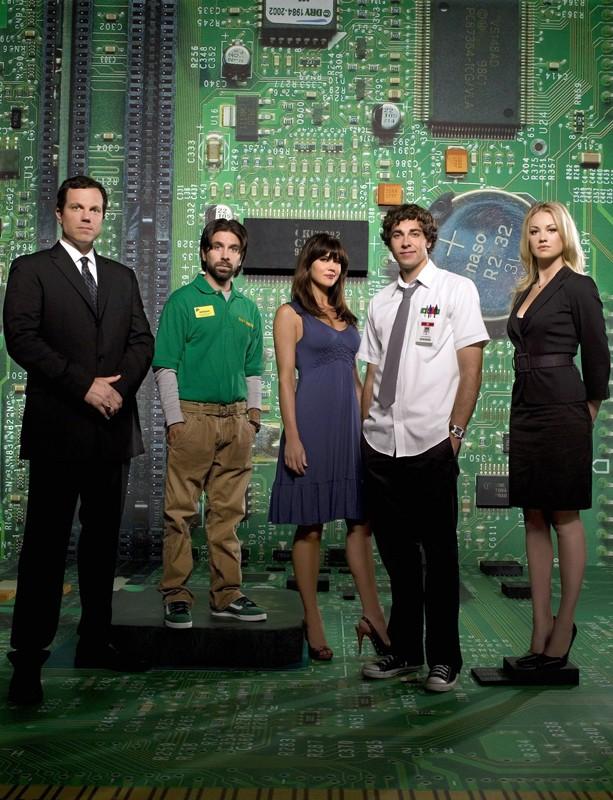 Il cast principale della prima stagione di Chuck in una foto promozionale