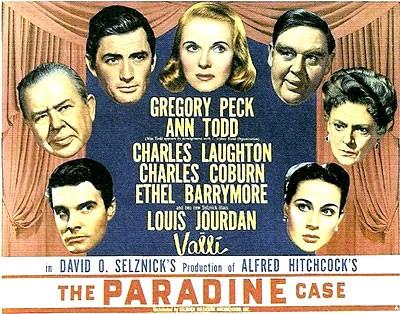 Lobbycard promozionale del film Il caso Paradine ( 1947 )
