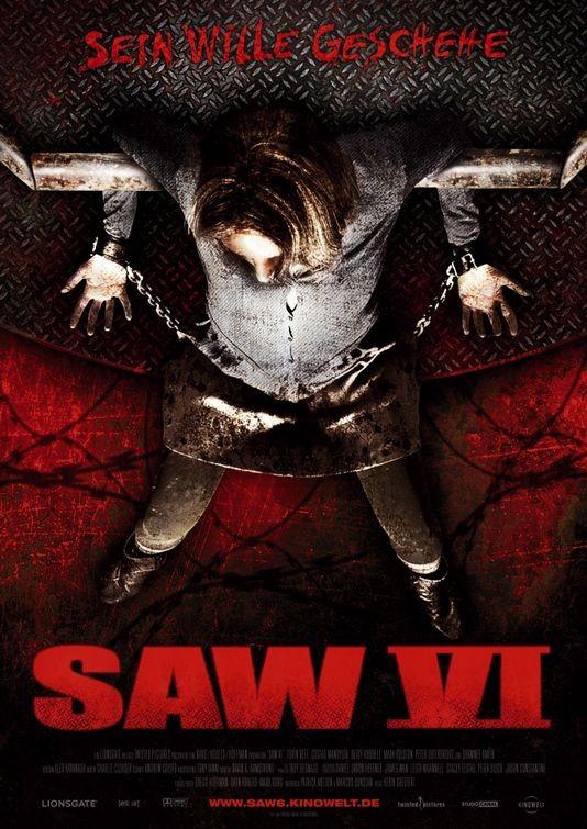 Uno dei poster europei per Saw VI