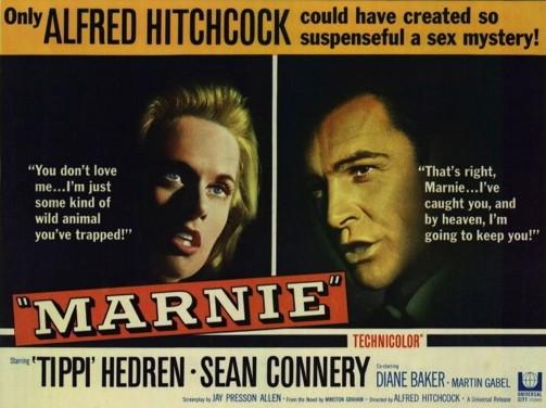 Sean Connery e Tippi Hedren in una lobby card del film Marnie ( 1964 )