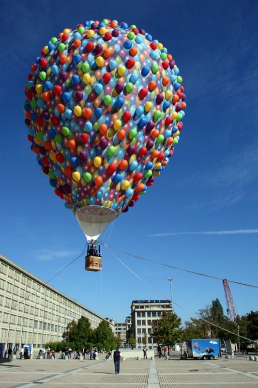 Una spettacolare immagine della promozione di Up al Lingotto Fiere di Torino