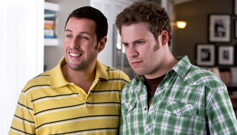 Adam Sandler e Seth Rogen in una scena della commedia Funny People diretta da Judd Apatow