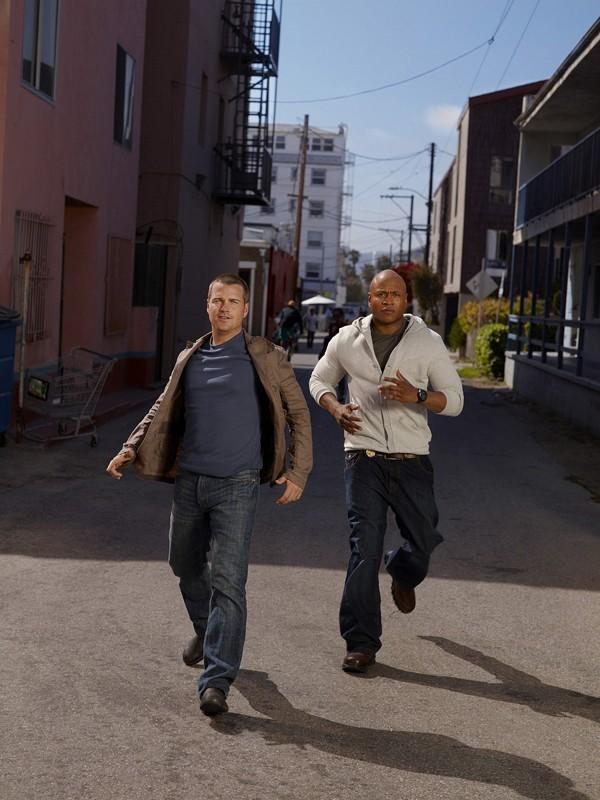 I nuovi Agenti Speciali Sam Hanna (LL Cool J) e 'G' Callen (Chris O'Donnell) per la serie NCIS: Los Angeles