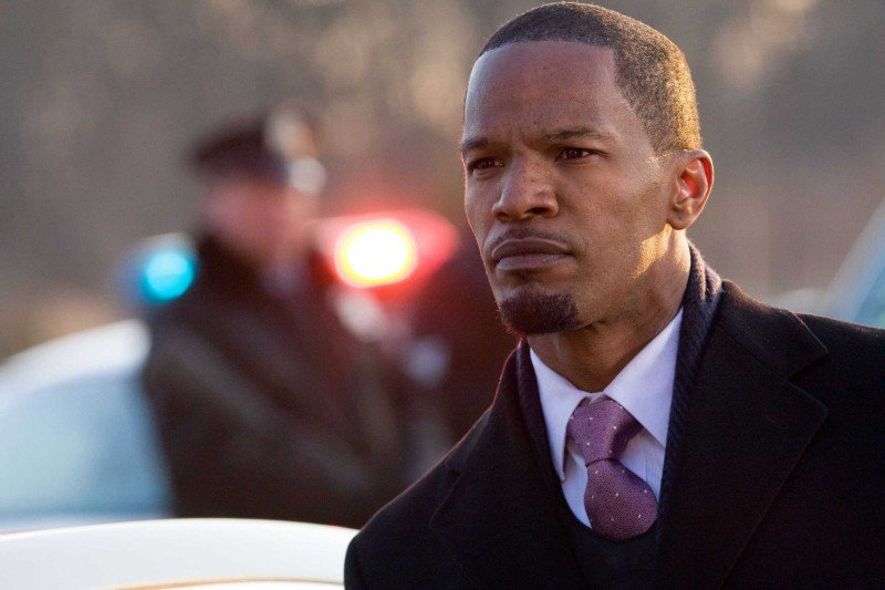 Jamie Foxx in una scena del film Law Abiding Citizen